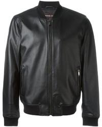 Michael Kors Michl Kors Leather Bomber Jacket