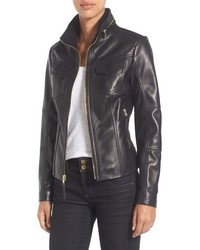 MICHAEL Michael Kors Michl Michl Kors Front Zip Leather Jacket