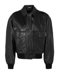 Givenchy Oversized Textured Leather Bomber Jacket