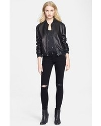 Rag and Bone Rag Bonejean Leather Bomber Jacket