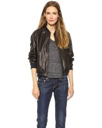 Rag and Bone Rag Bonejean The Leather Bomber Jacket