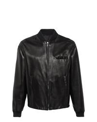 Prada Reversible Nappa Leather Bomber Jacket
