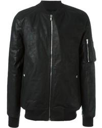 Rick Owens Padded Leather Bomber Jacket