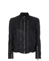 Neil Barrett Zip Detailed Leather Jacket