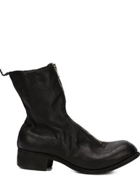 Guidi Distressed Zip Up Boots