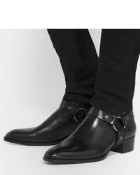 Saint Laurent Black Harness Boots p57WwqcHhm