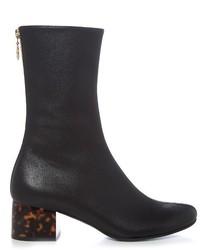 Stella McCartney Tortoiseshell Block Heel Faux Leather Boots