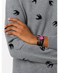 MCQ Alexander Ueen Triple Strap Swallow Bracelet