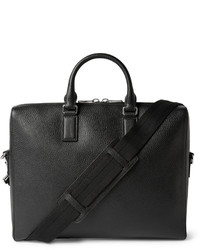 Black grained leather briefcase medium 288127