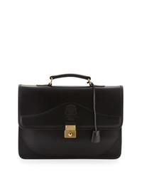 Ghurka Envoy Leather Briefcase Black