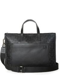Toledo logo debossed leather briefcase medium 680575