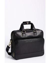Bosca Top Zip Leather Briefcase