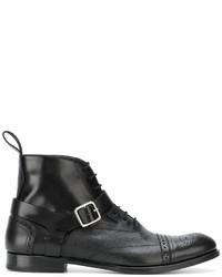 Alexander McQueen Brogue Detailed Boots