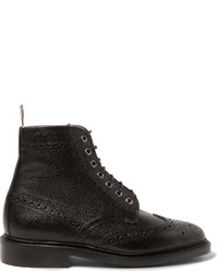 Leather wingtip brogue boots medium 760583