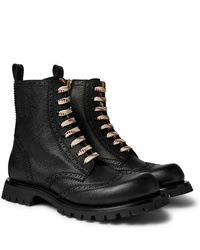 Gucci New Arley Full Grain Leather Brogue Boots