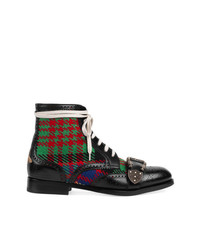 Gucci Tartan Queercore Brogue Boot
