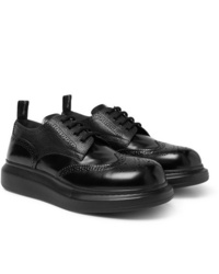 Alexander McQueen Exaggerated Sole Spazzolato Leather Brogues