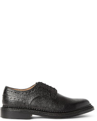 Grenson Neighborhood William Pebble Grain Leather Brogues