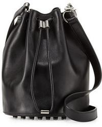 Alexander Wang Alpha Napa Leather Bucket Bag
