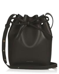 Mansur Gavriel Blue Lined Leather Bucket Bag