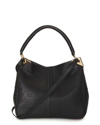 Topshop Hinged Hobo Bag Black
