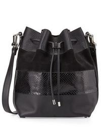 Proenza Schouler Leather Python Paneled Bucket Bag