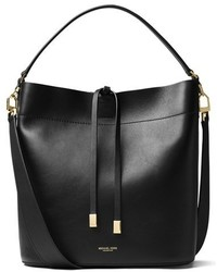 Michael Kors Michl Kors Large Miranda Leather Bucket Bag Black