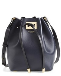 Michael Kors Michl Kors Miranda Medium Leather Bucket Bag