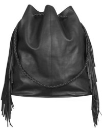 Topshop Phoenix Leather Bucket Bag