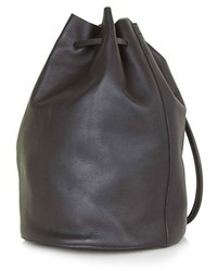 Topshop Pisces Leather Bucket Bag