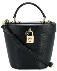 Women s Black Leather Bucket Bags by Dolce   Gabbana  c68930ffffffa