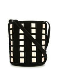Tomasini Square Contrast Bucket Bag