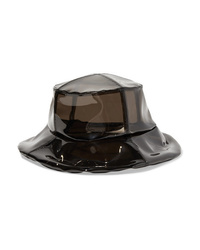 Black Leather Bucket Hat