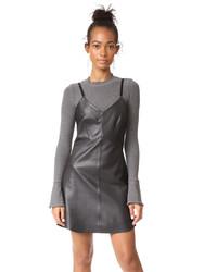 Black Leather Cami Dress