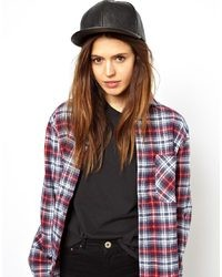 Asos Faux Leather Cap