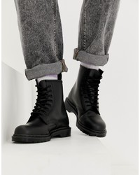 Dr. Martens 1460 Mono 8 Eye Boots In Black