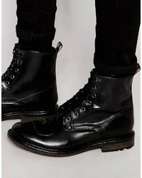 Base London Mercury Lace Up Leather Boots