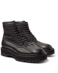 Givenchy Camden Leather And Canvas Boots