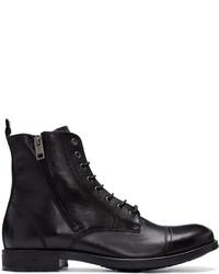 Diesel Black Leather D Kallien Boots