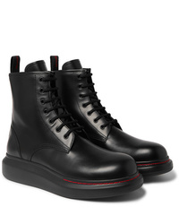 Alexander McQueen Exaggerated Sole Spazzolato Leather Boots
