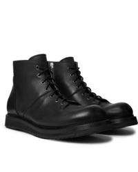 Rick Owens Full Grain Leather Monkey Boots