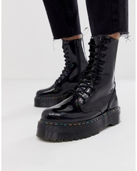 Dr. Martens Jadon 10 Eye Platform Boots In Black