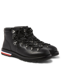 Moncler Peak Pebble Grain Leather Hiking Boots