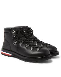 Moncler Peak Pebble Grain Leather Hiking Boots
