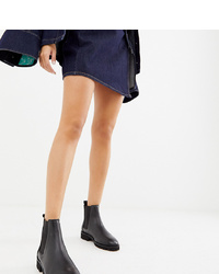 ASOS DESIGN Addie Leather Chunky Chelsea Boots