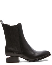Alexander Wang Anouck Chelsea Leather Boots With Rose Gold Hardware