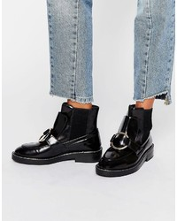 Asos Antos Leather Chelsea Ankle Boots