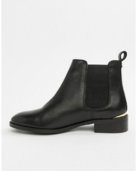 Office Bramble Black Leather Chelsea Boots Leather