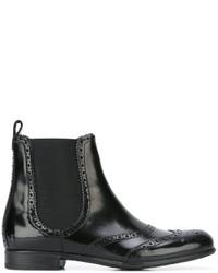 Dolce & Gabbana Brogue Chelsea Boots