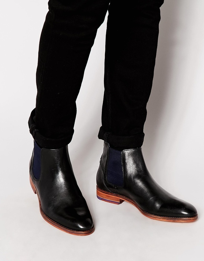 9ef5aed9444 £216, Ted Baker Camroon Leather Chelsea Boots